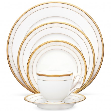 Hampshire gold dinner set by Noritake available in Tavola