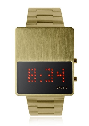 VOID Watch Led with gold bracelet available in D.Tales